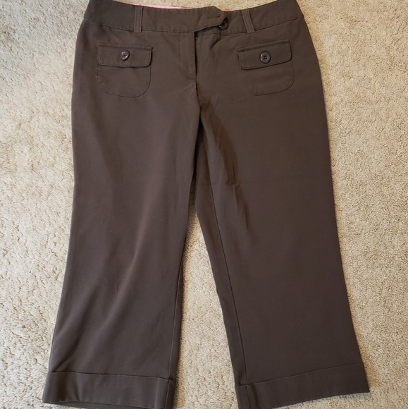 Womens capris brown size 11